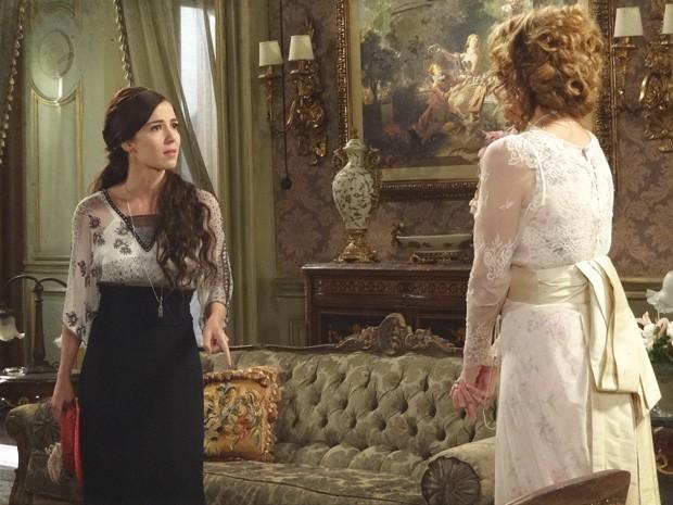 Laura diz que vai conseguir o perdão de Isabel (Foto: Lado a Lado/TV Globo)