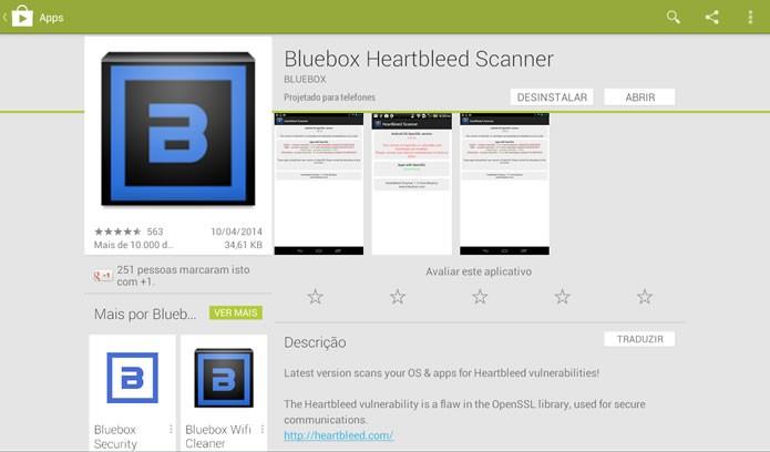 Faça o download do Bluebox Heartbleed Scanner (Foto: Reprodução/Daniel Ribeiro)