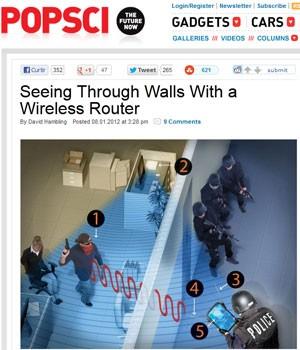 Radar monitora frequências do Wi-Fi para detectar o movimento de objetos (Foto: Reprodução)