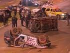 Carros da PM capotam e deixam cinco feridos durante perseguição no DF