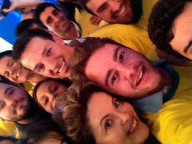 Estudante de engenharia tirou 'selfie' com presidente Dilma (Foto: Bruno Closs/ Arquivo Pessoal)