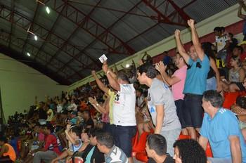 Torcida do Big Bran empurra time ao título no Acreano de Futsal da 2ª divisão (Foto: Adelcimar Carvalho/G1)