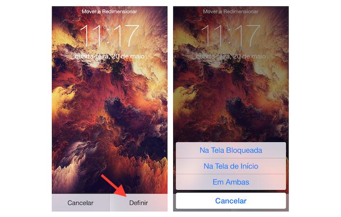 Definindo a imagem encontrada com o Lock Screens como papel de parede do iPhone (Foto: Reprodução/Marvin Costa)