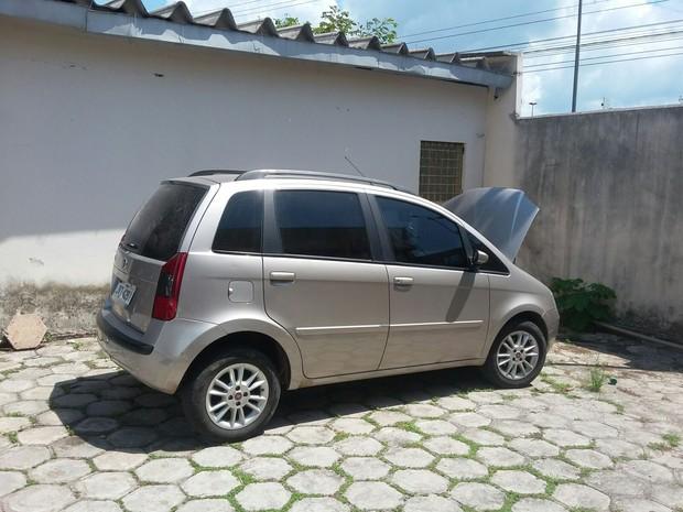 Carro roubado em Belém foi recuperado com a prisão dos suspeitos.  (Foto: Divulgação/ Polícia Civil)