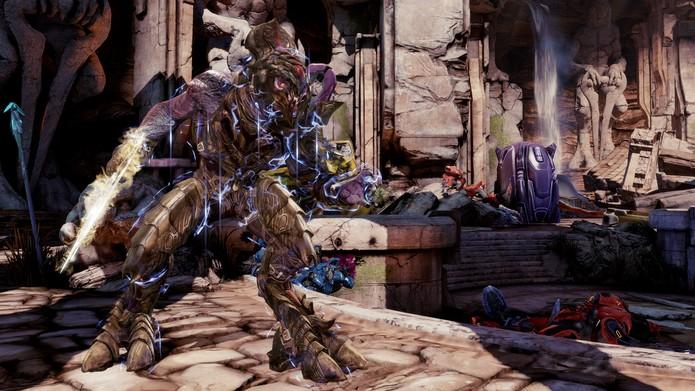 O personagem Arbiter, da série Halo, é um dos novos lutadores de Killer Instinct (Divulgação/Microsoft)