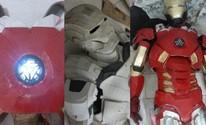 Pai faz armadura  do Homem de Ferro (Arquivo pessoal; Jomar Bellini/G1; Arquivo pessoal)