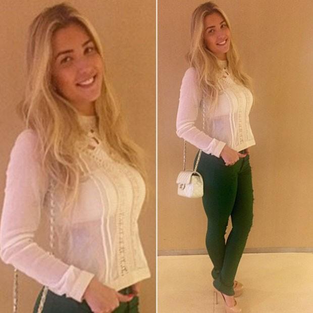 Ex-BBB Aline exibe o look (Foto: Instagram/ Reprodução)