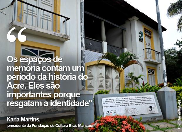 Museu da Borracha, em Rio Branco, está fechado há mais de 1 ano (Foto: Foto: Quésia Melo/G1)