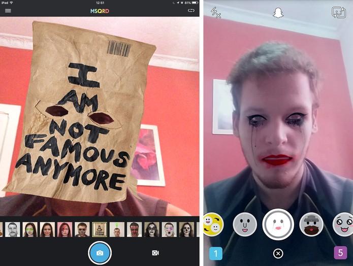 MSQRD tem maior variedade de filtros que Snapchat, mas ambos são divertidos (Foto: Reprodução/Elson de Souza)
