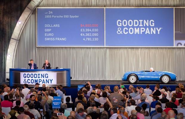 Porsche 550 Spyder Roadster foi arematado por US$ 5,3 milhões (Foto: Divulgação/Gooding & Company)