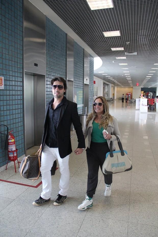 Susana Vieira e Sandro Pedroso (Foto: Marcello Sá Barretto/AgNews)