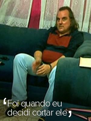 Selo - Em vídeo, publicitário Eduardo Tadeu Pinto Martins inocenta mulher de morte de zelador (Foto: Reprodução/TV Globo)