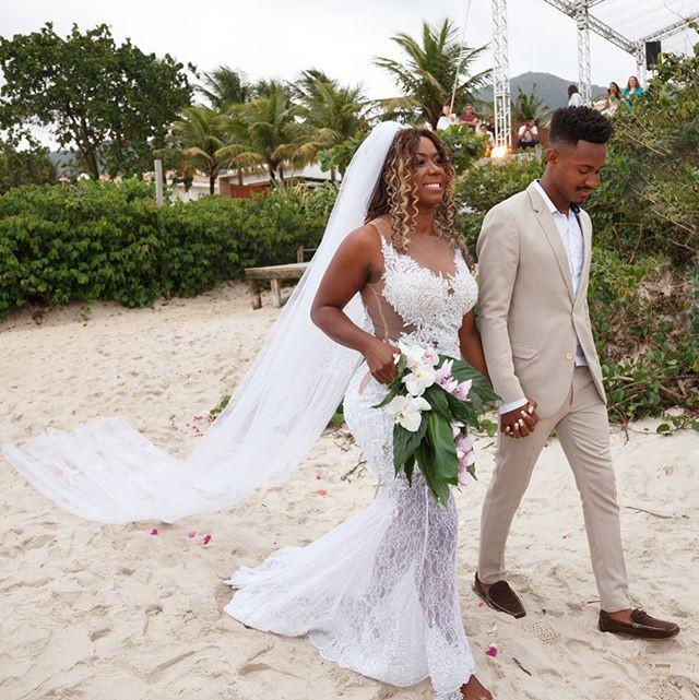 Casamento de Adelia Soares e Alexandre Moraes no litoral de São Paulo (Foto: Reprodução/Instagram)