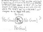 Em carta, garota de 8 anos pede que Obama proíba armas nos EUA
