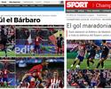 """""""Gol Maradoniano"""" de Saúl encanta imprensa, torcedores e companheiros"""