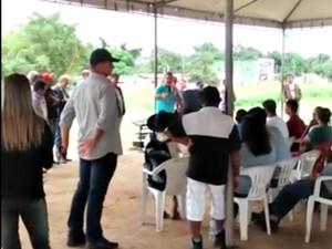 Vídeo foi gravado durante discurso em Manoel Urbano, interior do Acre  (Foto: Arquivo pessoal)