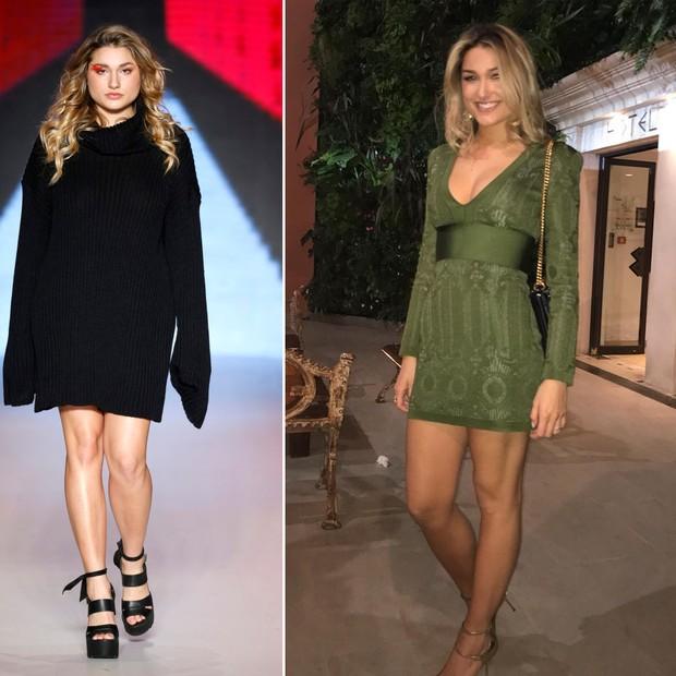 Sasha Meneghel em outubro de 2016 (à esq.) e em julho de 2017 (Foto: Reprodução/Instagram)