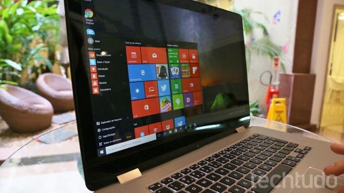 Notebook conversível da Dell mantem o design e o bom nível de acabamento (Foto: Isabela Giantomaso/TechTudo)