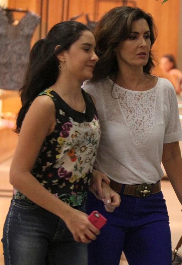 Beatriz e Fátima Bernardes (Foto: Henrique Oliveira/AgNews)