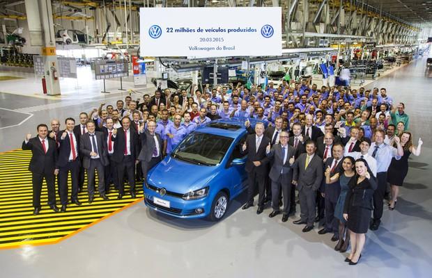 Volkswagen atinge marco de 22 milhões de veículos produzidos no Brasil (Foto: Divulgação)