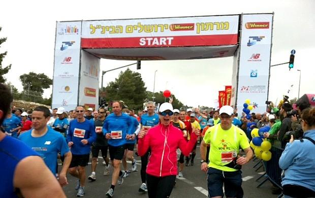 Maratona de Jerusalem euatleta Samantha Mendes (Foto: Arquivo Pessoal)