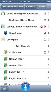 screenshot de TeamSpeak