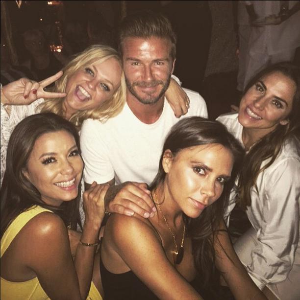 David Beckham e parte das ex-Spicy Girls (Foto: Reprodução/Instagram)