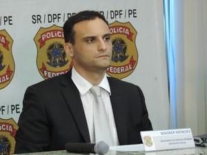 Delegado Wagner Mezes coordena as investigações da PF sobre a Hemobrás (Foto: Katherine Coutinho / G1)
