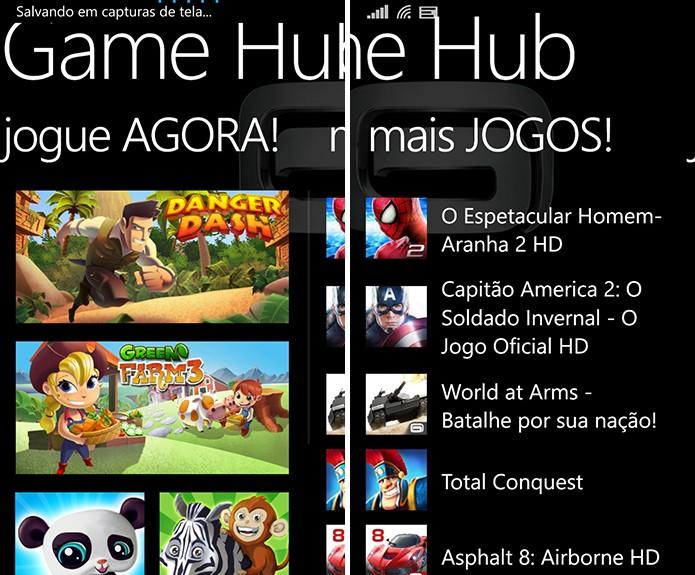GameHub é um aplicativo da Gameloft exclusivo para Windows Phone com jogos grátis disponíveis (Foto: Reprodução/Elson de Souza)
