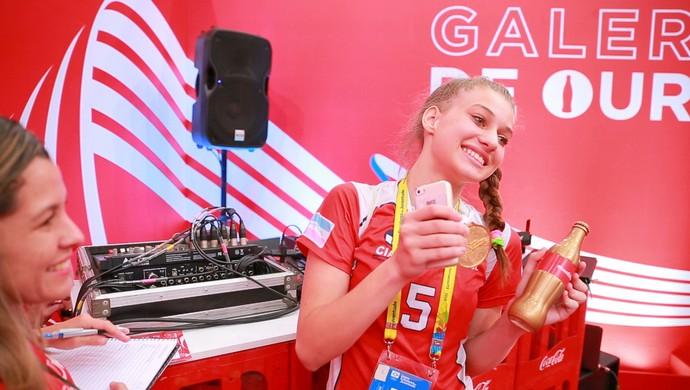 Maria Julia, atleta de vôlei capixaba, ingressos, Jogos Escolares, Olimpíadas (Foto: Cláudio Roberto/Divulgação)