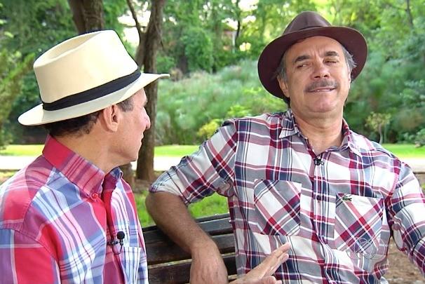 Com Nilton Pinto e Tom Cavalho você não fica sem dar boa gargalhadas. (Foto: TV Anhanguera)