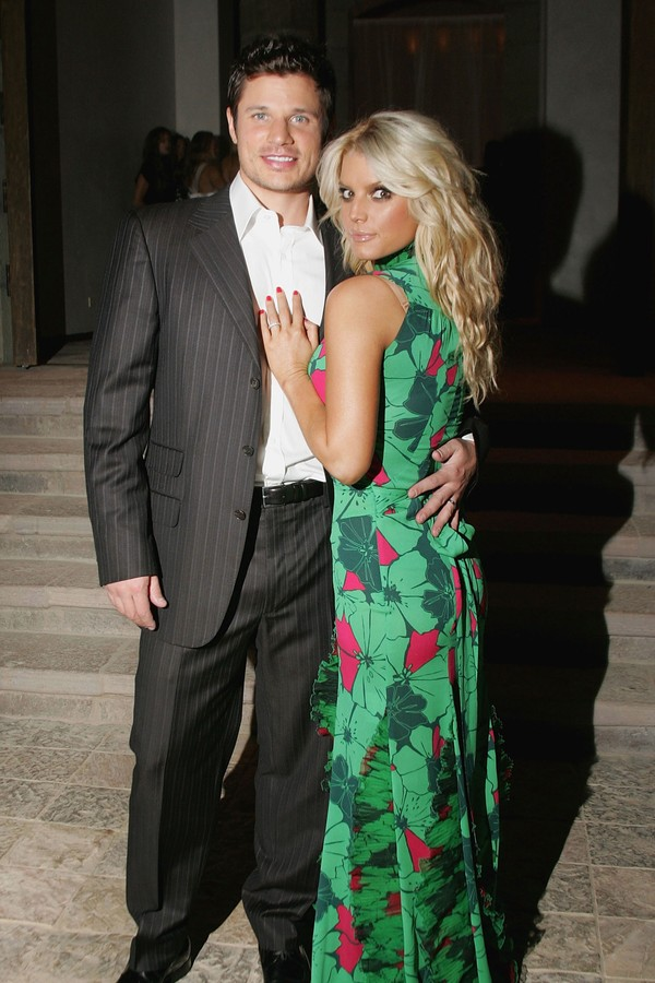 A cantora Jessica Simpson e seu ex, Nick Lachey (Foto: Getty Images)
