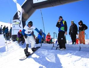 André Cintra, snowboard paralímpico, Campeonato Brasileiro no Valle Nevado (Foto: Divulgação / CBDN)