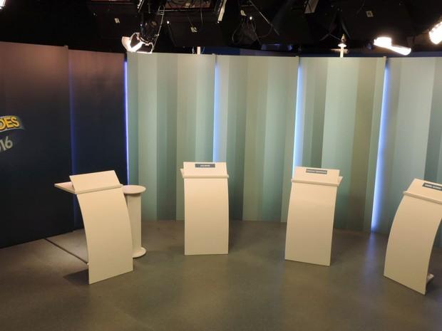 Tudo pronto para o debate dos candidatos à prefeitura de Marília  (Foto: Mariana Bonora/ G1 )