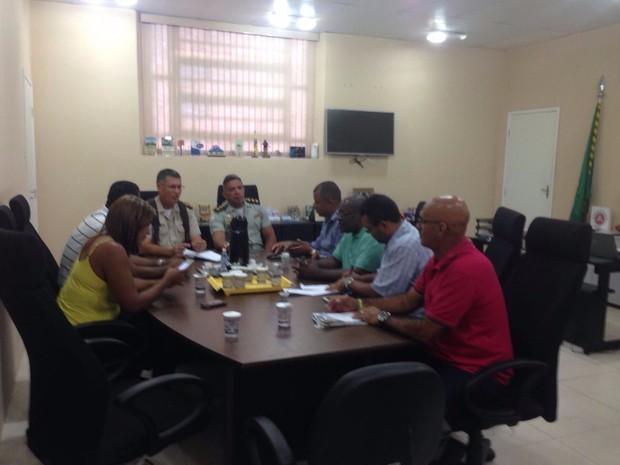 Reunião da PM (Foto: Rafael Teles/G1)