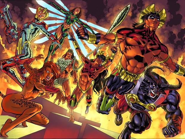 Esquadrão Amazônia é um grupo de heróis criado por Joe Bennet (Foto: Joe Bennet / Arquivo Pessoal)