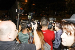 Multidão da imprensa (Foto: Celso Tavares/EGO)