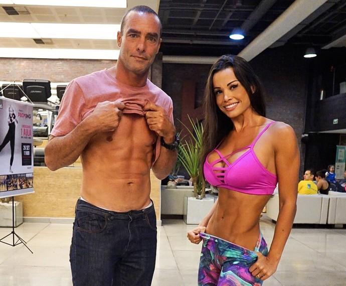 Paulo Zulu e Fernanda D'avila se reencontram e matam saudades cinco anos após terem sido dupla no Dança dos Famosos 2010 (Foto: Arquivo pessoal)