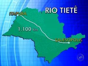 Percuso do rio Tietê (Foto: Reprodução TV TEM)