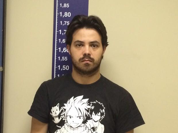Gustavo Montalvão Freixo, de 31 anos, foi preso nesta quarta-feira (12) (Foto: Matheus Rodrigues/G1)