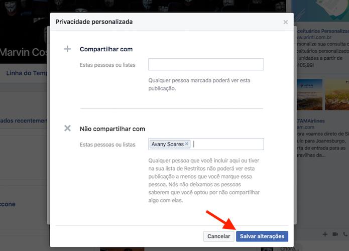 Ocultando a lista de contato de amigos específicos do Facebook (Foto: Reprodução/Marvin Costa) (Foto: Ocultando a lista de contato de amigos específicos do Facebook (Foto: Reprodução/Marvin Costa))
