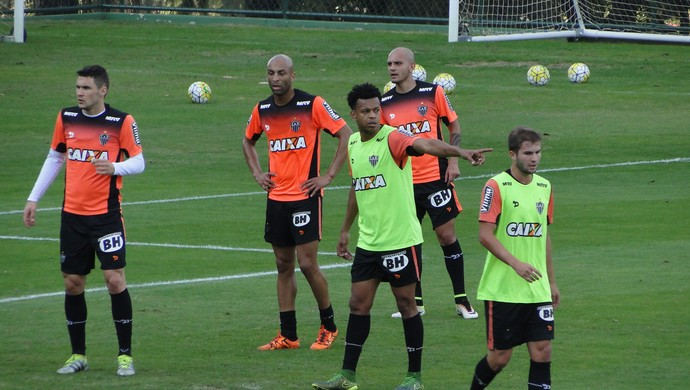 Treino do Atlético-MG (Foto: Fernando Martins Y Miguel)