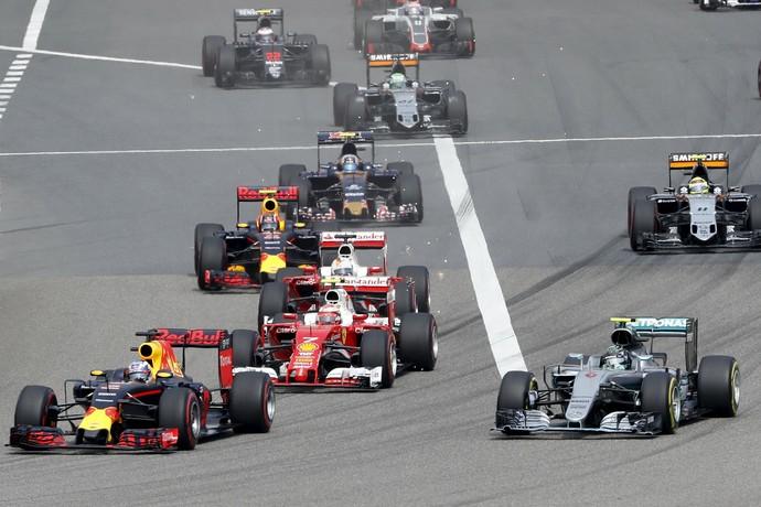 Largada GP da China Fórmula 1 (Foto: Reuters)