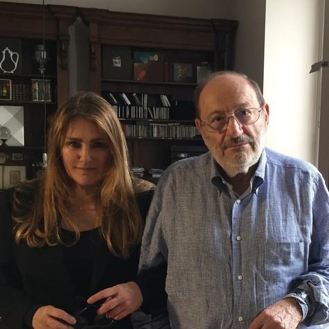 Ilze Scamparini e Umberto Eco (Foto: Arquivo pessoal)