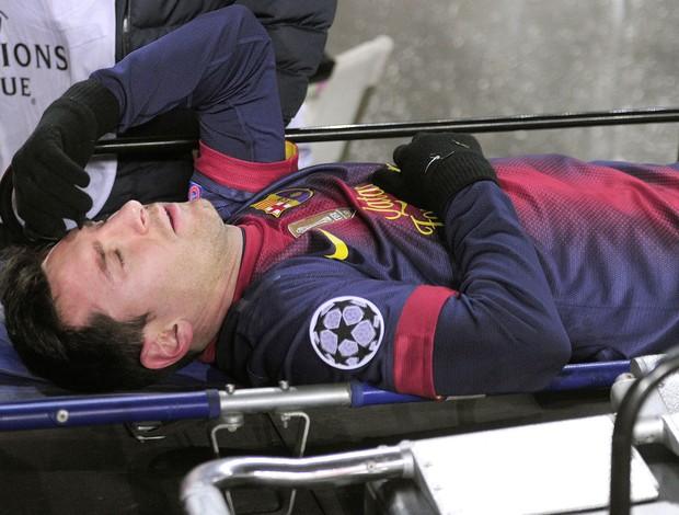 Messi, Barcelona e Benfica (Foto: Agência AFP)