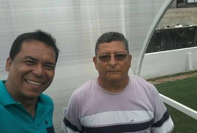 Ney Bendelack e Lúcio Santarém no Estádio Colosso do Tapajós (Foto: Ney Bendelack/Arquivo pessoal)