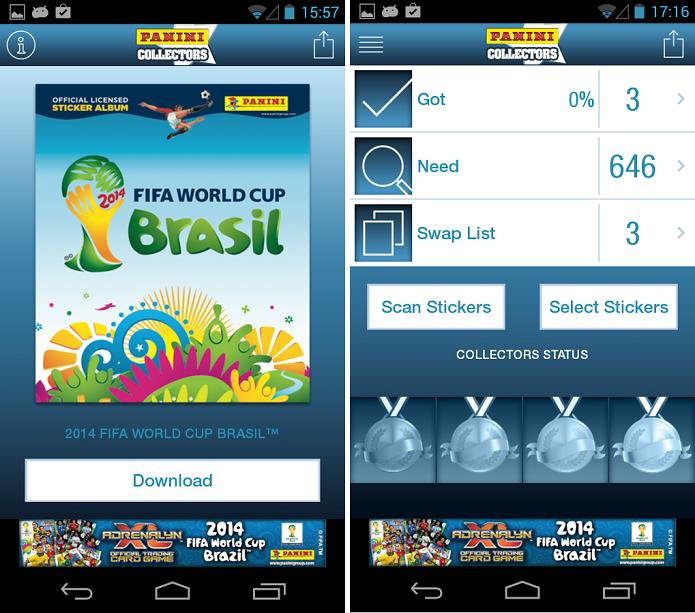 Panini Collectors é um aplicativo para ajudar a completar o álbum da Copa 2014 (Foto: Divulgação)
