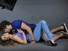 Caio Castro e Sabrina Sato fazem caras e bocas durante ensaio para campanha