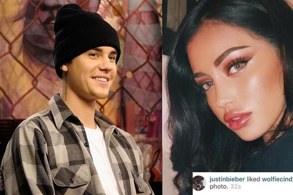 Bieber curte foto de Cindy Kimberly (Foto: Getty Images/Reprodução Instagram)