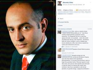 Eduardo iria se formar em Direito no dia 4 de março (Foto: Reprodução/ Facebook)